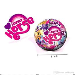 Discount rainbow balls toys - Hot Baby Dolls For Girl For LoL Cartoon Little Horse Unicorn Rainbow For Surprise Ball Animal Action Figure Toy Anime Gi