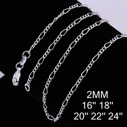 Sterling Silver Chains Women Australia - Fine 925 Sterling Silver Necklace,XMAS New 925 Silver 2MM 16-30Inch Curb Chain Necklace For Women Men Fashion Jewelry 2019 Link Italy c013