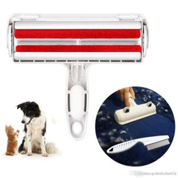 Venta al por mayor de Removedor de pelo de mascotas perro gato pelo cepillo de limpieza rodillo bidireccional diseñador eliminación de pelo de mascotas de muebles alfombras ropa YP381