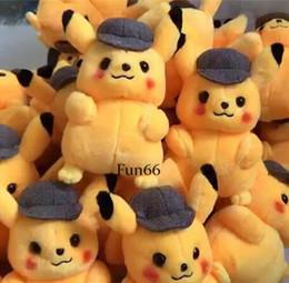 Best Gift For Xmas Australia - 30CM Detective Pikachu Plush Toys Detective Pikachu Plush Dolls Detective Pikachu Stuffed Dolls Best Xmas Gift for Kids