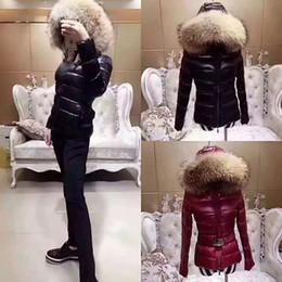 Fur collar jacket slim waist online shopping - MONCLERS top designer winter jacket women classic brand thick hooded long luxury down jacket female Slim version of heavy fur collar coat