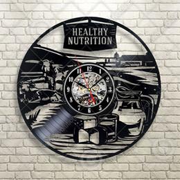 Healthy Art Australia - Farm Country Rural Healthy Nutrition Vinyl Wall Clock Kitchen Restaurant Home Decor Handmade Art Personality Gift