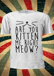 meow shirt NZ - Are You Kitten Me Right Meow Cat Tumblr T-shirt Vest Top Men Women Unisex Funny 100% Cotton T Shirt Trump sweat sporter t-shirt