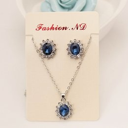 $enCountryForm.capitalKeyWord Australia - set The New High-grade Navy Blue Suit, Blue Royal Princess Same Paragraph Imitation Gemstones Necklace Set Wholesale