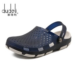 strap sandles Australia - Hole Shoes Male Men Sandals crocse Clogs Sandalias hombre croc Shoes Sandles Mens Sandals Men Slippers Summer Sandalet New 2019