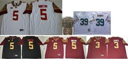 American Football Teams Australia - Florida State Seminoles #5 Jameis Winston Mens Vintage College 18 A. J. Green 39 Larry Csonka Stitched American Team Football Jerseys Cheap