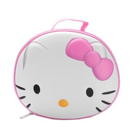$enCountryForm.capitalKeyWord Australia - Round Pink Hello Kitty Cosmetic Bags Girl's Beautician Vanity Cases Lipstick Tote Travel Makeup Brush Toiletry Pouch Items