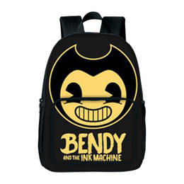 $enCountryForm.capitalKeyWord UK - Designer-New Fashion Bendy And The Ink Machine School Bag Children Backpack For Student School Bag Notebook Backpack Daily Backpacks Gift