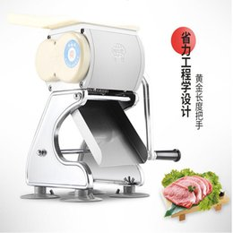 used meat cutter machine 2021 - Manual stainless steel meat cutter Home use Pull-out Blade Shred Slicer Dicing Machine Commercial Meat Slicer machine
