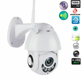 infrared hd webcam UK - 2020 New Wireless HD 1080P WiFi 4X ZOOM CCTV Outdoor IP Camera Home Security IR Webcam wireless infrared surveillance Baby camera