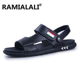 $enCountryForm.capitalKeyWord NZ - Summer Men's Sandals British Fashion Leather Beach Shoes Mens Casual Massage Non-Slip Slippers Flats Men Water Shoes
