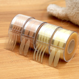 Bobina 600PCS Palpebra invisibile Pasta trasparente per griglia beige Palpebra grande Decorazione per gli occhi Strumenti per il trucco Strumento per palpebre HHA468 in Offerta