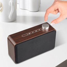 Sound mobile phone online shopping - Wooden Wireless Bluetooth Speaker Good Sound Loudspeakers Surround Wood Wireless Speaker for Phone computer