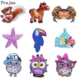 Owl badge online shopping - Prajna Unicorn Owl Patch Rainbow Sequin Horse Iron on Embroidery Patches Sewing Accessories Decoration For Clothes Badge F