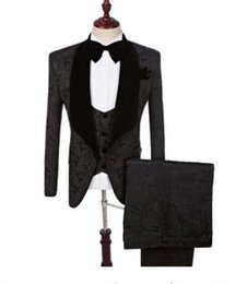 Men S Long Wedding Suit Australia - 2019 Red Paisley tuxedos Wool Herringbone wedding suits for men British style custom made Mens suit slim fit size S-5XL