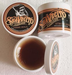 Best styling wax online shopping - Suavecito Pomade Strong style Restoring Ancient Ways Hair Wax Slicked Back Oil Wax Mud Best skull Keep Very Strong Hold men free DHL