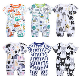 97f7865fc8a7 Baby Rompers 2019 Short Sleeve 100% Cotton overalls Newborn clothes Roupas  de bebe boys girls jumpsuit clothing