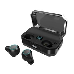 bluetooth headset t9 2019 - T9 Wireless Stereo Earphone Bluetooth Contact Control Mini Wireless Tws Earbuds Ipx7 Waterproof Hifi Music Headset with