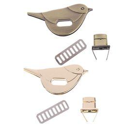 Metal Turnings Australia - Hot Sell Bird Shape Clasp Turn Lock Twist Locks Metal Hardware For DIY Handbag Bag Purse