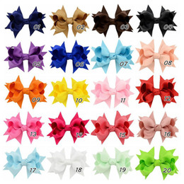 baby zebra hair NZ - Free DHL 3 inch Baby Bow Hairpins Mini Swallowtail Bows Hair grips children Girls Solid Hair Clips Kids Hair Accessories 20 colors Wholesale