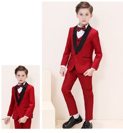 Handsome Kids Suits Australia - Handsome One Button Shawl Lapel Kid Complete Designer Handsome Boy Wedding Suit Boys' Attire Custom-made (Jacket+Pants+Tie+Vest) A16