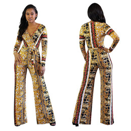african jumpsuits 2019 - new style African Women clothing Dashiki fashion Print elastic cloth Long sleeve jumpsuits dress cheap african jumpsuits