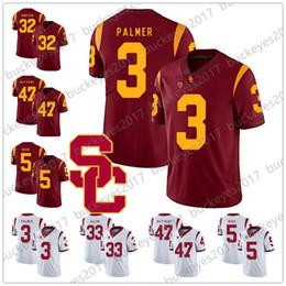 93fe6518d00 NCAA USC Trojans #3 Carson Palmer 21 Su'a Cravens 22 Lynn Swann 33 Marcus  Allen 47 Clay Matthews White Red College Football Jerseys
