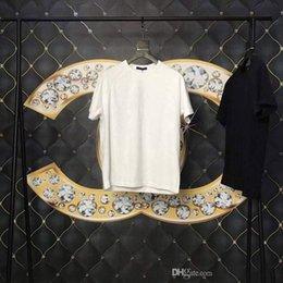 Venta al por mayor de Primavera verano 2019 Lujo Europa Francia París Alta calidad por todo Dim Shadow Impresión de la camiseta de la manera Hombres de las mujeres T Shirt Camiseta de algodón ocasional