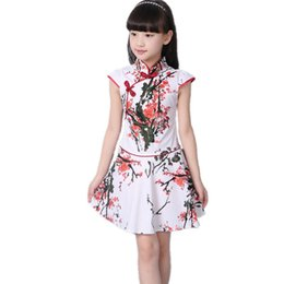551894464dcc Chinese Style Girls Dress Baby Casual Kids Clothes Elegant Vestidos Vintage  Party Toddler Summer Dress Girl Children