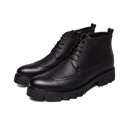 $enCountryForm.capitalKeyWord UK - England style men's fashion breathable prom banquet dress soft leather brogue shoes carved bullock shoe platform ankle boots man