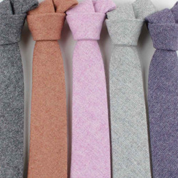 $enCountryForm.capitalKeyWord Australia - Fashion Wool Ties Brand Popular Solid Necktie Cravats For Men Suits Tie For Wedding Business Men's Wool Tie