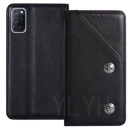 skin shell phone case UK - YLYH TPU Silicone Protective Premium Genuine Leather Rubber Cover Phone Case For OPPO A52 A92s Ace2 Realme C3 6 Pouch Shell Wallet Etui Skin