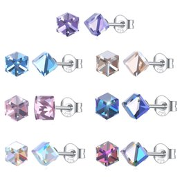$enCountryForm.capitalKeyWord UK - Mini 4mm Earring Studs 925 Silver Earrings Gem Stone Crystal Stud Earrings Silver Pin Stick Lady Charms Jewelry Party Gift