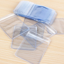 $enCountryForm.capitalKeyWord NZ - 100 Pcs lot Clear PVC Plastic Coin Bag Case Wallets Storage Envelopes Seal Plastic Storage Bags gift package