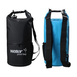 1fc847d47a94 10L 20L Outdoor River trekking bag Dry Bag Double shoulder straps Water Pack  Swimming Backpack Waterproof Bags Drifting Kayaking