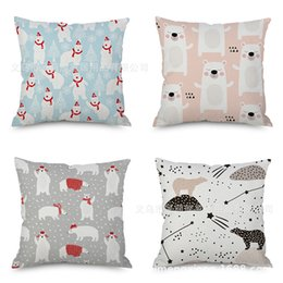 $enCountryForm.capitalKeyWord NZ - Cartoon Animal Flax Embrace Pillow Case Concise Home Furnishing Pillow Automobile Sofa Back Cushion Modern Cushion Pillow