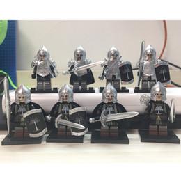 $enCountryForm.capitalKeyWord NZ - Gondor Soldier Building Blocks Lord of the Rings Bricks Models Figure 8PCS
