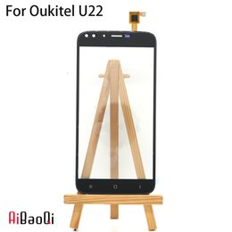 Discount oukitel 5.5 inch phones AiBaoQi New Original Front Touch Screen Digitizer Glass Replacement Parts For 5.5 inch Oukitel U22 Phone
