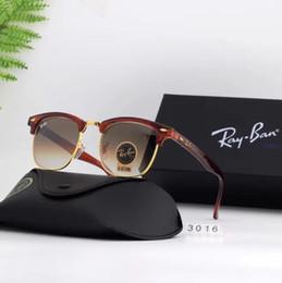 2019 Ray Vintage Pilot BANS Sunglasses RB3016 48mm Fashion Design Men Women UV400 Color Film Polarized TAC Lens Aviator Sun glasses Original from motorcycle sun glasses manufacturers
