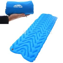 Wholesale Nylon TPU Outdoors Pads Type M Ultra Light Inflatable Cushion Heat Insulation Heat Preservation Moisture Proof Mats Anti Wear 105yyI1