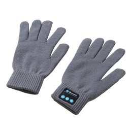 Chinese  SZAICHGSI 10pcs lot New Rechargeable Wireless Bluetooth Music Headset Speaker Smart Touch screen Warm Knit Plush Gloves with Stereo manufacturers