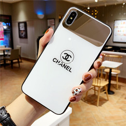 mirror glass iphone case NZ - 19ss New hot sale for iPhone 6 7 8 plus shatter-resistant shell iPhone XS MAX mobile phone case X XS mirror glass case 6S plus back cover