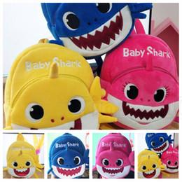 Venta al por mayor de Moda unisex bebé tiburón mochila suave mochila rosa niña niño mochila niño mochila cumpleaños Favor de fiesta T2D5019