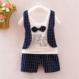 $enCountryForm.capitalKeyWord NZ - good quality Summer Baby Boys Clothing Set Kid Suit Set Tops+Shorts Lattice Clothes Set For Boys Tracksuit Children Tracksuit