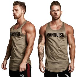 Wholesale Mens Bodybuilding Tank top Gyms Fitness sleeveless shirt New Male Cotton clothing Fashion Singlet vest Undershirt