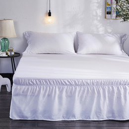 $enCountryForm.capitalKeyWord UK - Hotel Home Queen Size Bed Skirt White Bed Shirts without Surface Elastic Band Single Queen King Easy On Easy Off skirt