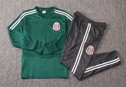 survetement football UK - Thailand 2018 2019 Mexico tracksuit Club America Soccer Jacket Tracksuit 18 19 Club Football Survetement Camisa de Futebol Sweater Jersey