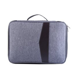 65b284c85ee2e Simple Solid A4 Big Capacity Document Bags Waterproof Passport Holder Men  Business Briefcase Notebook Handbag Travel Accessories  696844