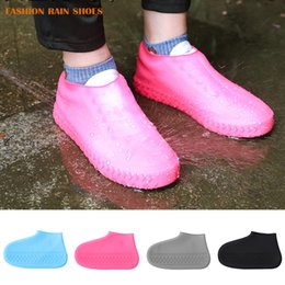 bikes shoes Australia - 1pair Silicone Anti-slip Waterproof Shoe Cover Reusable Rain Boot Motorcycle Bike Overshoe for Men Women