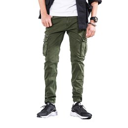 $enCountryForm.capitalKeyWord Australia - 2019 Spring Cargo Pants Men Japan Style Trousers Zipper Fly High Quality Mens Joggers Cotton Pants Male Brand Clothing